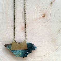 Larsonite Pendant Necklace handmade by @abovebelowjewelry. Loving the simple earthiness of this necklace!  Shop Here: abovebelowjewelry.bigcartel.com  #abovebelowjewelry #pendant #rawstones #shopsmall #handmadeloves