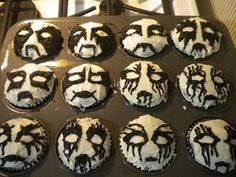 Black metal cupcakes! Might have to make these for my honey.