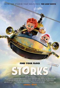 Storks (2016) this is a really good movie so cute and funny. 11x17 Movie Poster