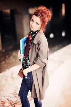@Jane Aldridge rocking the menswear-inspired tie trend!