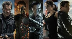 Five new character posters released for TERMINATOR GENISYS starring Arnold Schwarzenegger