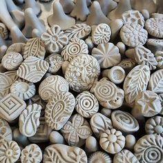 Handgemachte Clay Briefmarken für Keramik Polymer von chARiTyelise