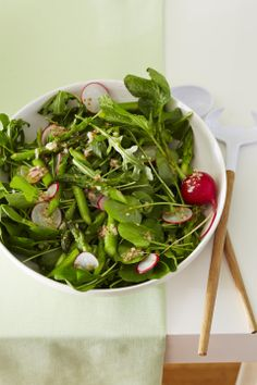 Watercress, Arugula and Asparagus Salad #myplate #salads #spring