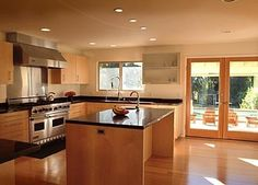 Contemporary Kitchen Floors Bamboo Design, Pictures, Remodel, Decor and Ideas - page 5