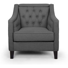 Baxton Studio Vienna Classic Retro Modern Contemporary Grey Fabric... ($265) ❤ liked on Polyvore featuring home, furniture, chairs, accent chairs, grey, upholstered arm chair, upholstered armchair, fabric armchair, gray accent chair and fabric arm chair