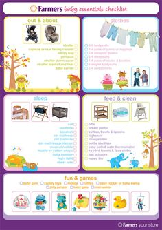 Farmers - Baby essentials checklist
