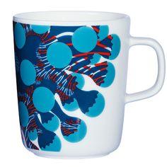 print & pattern Marimekko: Merivuokko by Kustaa Saksi Marimekko, Vietnam, Color Me Mine, Red Mug, Stoneware Mugs, Nordic Design, Pattern Design, Print Patterns, Porcelain