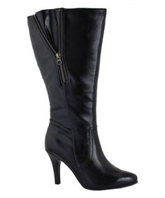 Another great find on #zulily! Black Tascosa Wide-Calf Boot #zulilyfinds