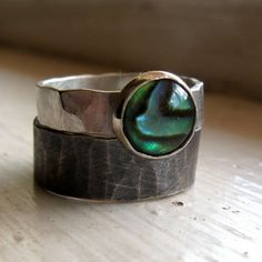 Abalone Ring by tinahdee on Etsy