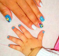 Omg the baby nails look soooooo cute! Kids Manicure, Nails For Kids, Girls Nails, Little Girl Nails, Crazy Nail Designs, Finger Art, Baby Nails, Floral Nail Art, Mani Pedi