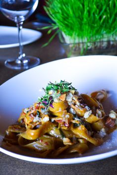Seasonal Pasta. Housemade pasta with fresh seasonal veg.  #tagaris