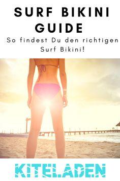 Du bist auf der Suche nach einem coolen Surf Bikini, der auch in hohen Wellen nicht den Halt verliert? In unserem Surf Bikini Guide findest Du viele Tipps zum Kauf des richtigen Surf Bikinis und Vorschläge für coole Surf Bikinis!  #surfbikini #surfwear #surfbikiniguide Kitesurfing, Surfboard, Surf Bikini, Suits Season, Cooler Look, Bikinis, Wetsuit, Japan, Surfing