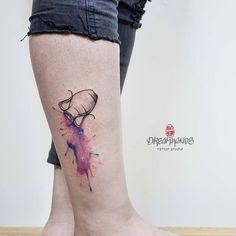 made this beautiful water colour Aquarius . Aquarius Constellation Tattoo, Aquarius Art, Aquarius Tattoo, Star Tattoos, Black Tattoos, Body Art Tattoos, Tatoos, Cover Up Tattoos For Women, New Zealand Tattoo