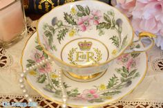 Paragon Queen's Coronation Teacup and Saucer Set by TheTeacupAttic