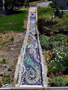 Mosaic Stairway to Heaven – San Francisco – Golden Gate Heights