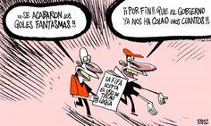 La nueva tecnología impedirá los 'goles fantasma'.... también del gobierno #humor #crisis #nosrobanlacartera