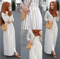How to add glam to a causal look? Well we can see here in our post how to create a glamorous hijabi looks, and how to get some inspiration by those stunning Modern Hijab Fashion, Muslim Women Fashion, Hijab Fashion Inspiration, Abaya Fashion, Modest Fashion, Fashion Dresses, Maxi Dresses, Fashion Muslimah, Fashion 2017