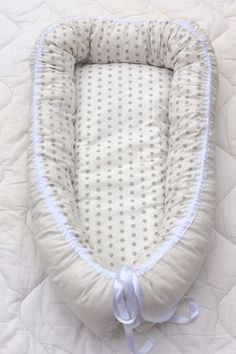 Stars babynest with wool stuffing - sleeping nest for newborn babies - baby bed…
