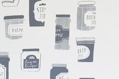 オリジナルポスター/シルクスクリーン/ジャムのビン(グレー) - 北欧雑貨と北欧食器の通販サイト| 北欧、暮らしの道具店