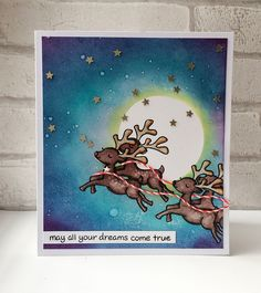 Lawn Fawn - Critters in the Snow, Critters Ever After (sentiment), Peppermint Lawn Trimmings _ Christmas Dreams! by Keren via Flickr - Photo Sharing!