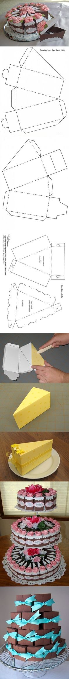 Not origami, but I may use this in the future Diy Paper, Paper Art, Paper Crafts, Wrapping Ideas, Gift Wrapping, Diy And Crafts, Arts And Crafts, Papier Diy, Gift Cake