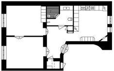 Myydään Kerrostalo, Kaksio - Helsinki, Ullanlinna, Kapteeninkatu 11 - Etuovi.com 7214339 Helsinki, Osaka, Floor Plans, Floor Plan Drawing, House Floor Plans