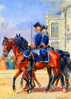 SOLDIERS- Rousselot: CHURCHILL: French royal horse guards - the Gardes du Corps du Roi, by Lucien Rousselot.
