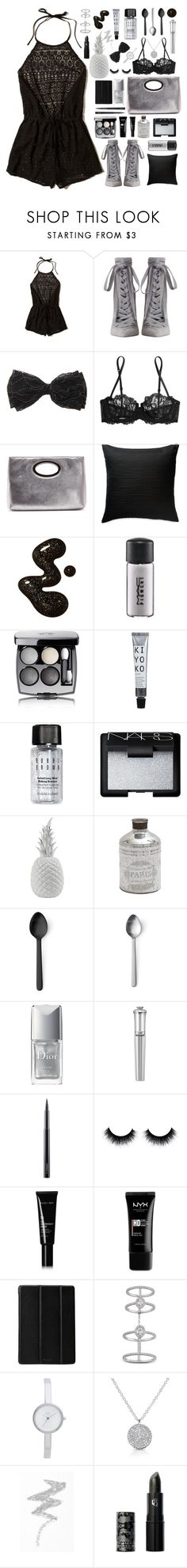 """Lucky Lace"" by erikapriscilla ❤ liked on Polyvore featuring Hollister Co., Zimmermann, La Perla, Donald J Pliner, Donna Karan, MAC Cosmetics, Chanel, Bobbi Brown Cosmetics, NARS Cosmetics and Holly's House"