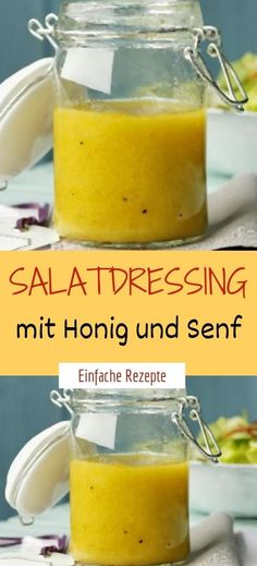 Salad dressing with honey and mustard Sprainnews - Salat Ideen Salad Recipes Healthy Vegetarian, Salad Recipes Low Carb, Homemade Caesar Salad Dressing, Avocado Dressing, Clean Eating Salads, Pasta, Vinaigrette, Food, Drinks