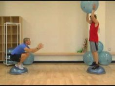 Official BOSU Ball Toss-Squat
