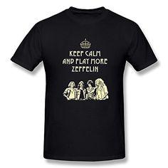 Jahei Custom Led Zeppelin T Shirt For Man Black Large