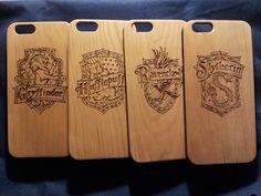 Hogwarts Badge Wood Phone Case Harry Potter by Case4YouBB6