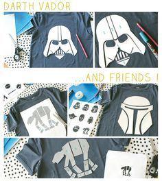 DIY Darth Vader and friends t-shirts