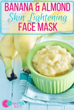 This diy face mask is effective for lightening skin tone. Banana Face Mask | Banana Face Mask for Wrinkles |  DIY Face Mask with Bananas Banana Face Mask, Honey Face Mask, Homemade Face Masks, Diy Face Mask, Face Diy, Lighten Skin Tone, Banana Baby Food, Diy Masque, Beauty Recipe