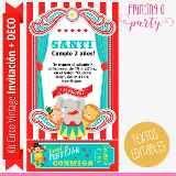 Kit Imprimible Editable Circo Vintage Decoración Y Candybar - $ 270,00
