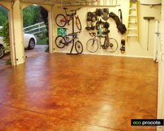 garage floors acid stain - Google Search