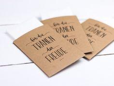 Ebook Taschentücher für die Freudentränen - ganz einfach selber basteln! Eine ausführliche Anleitung gibt's als Video dazu!