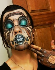 Psycho makeup by user BevanMaria. This is a look from a Borderlands game. - Imgur
