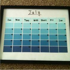 Paint Sample Calendars   Craftiness     Paint Sample