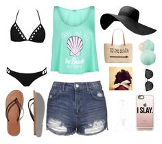 """""""Beachy Day"""" by jay-christina ❤ liked on Polyvore featuring Wildfox, Style & Co., Topshop, Abercrombie & Fitch, Eos, Miss Selfridge and Casetify"""