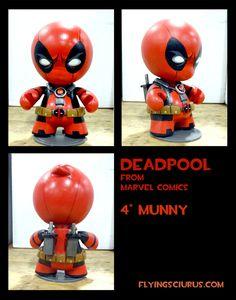 deadpool munny by FlyingSciurus.deviantart.com on @DeviantArt