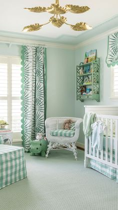 While it took seven months to complete from start to finish, the nursery that Lila Malone designed for her first child had been in the works for much longer. Baby Room Decor, Nursery Room, Nursery Decor, Nursery Ideas, Happy Baby, Nursery Neutral, Green Nursery Girl, Baby Room Green, Big Girl Rooms