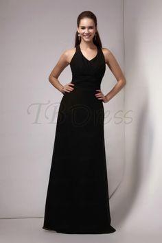 Elegant Sheath/Column Halter Floor-Length Sandra's Bridesmaids Dress