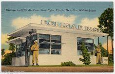 Entrance to Eglin Air Force Base, Eglin, Florida, Near Fort Walton Beach Vintage Florida, Old Florida, State Of Florida, Florida Home, Panama City Beach Florida, Panama City Panama, Eglin Air Force Base, Southern Heritage, Old Fort