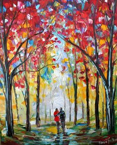 Custom Original Oil Painting Commission Romance by Karensfineart