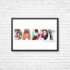 PERSÖNLICHES Geschenk für ihn / Papa / Papa - Custom / Fotokunst zum ausdrucken.  Opa, Grampa, Vatertag Geschenk, Geburtstag und Weihnachten von AlmondHillDesigns auf Etsy https://www.etsy.com/de/listing/256082942/personliches-geschenk-fur-ihn-papa-papa
