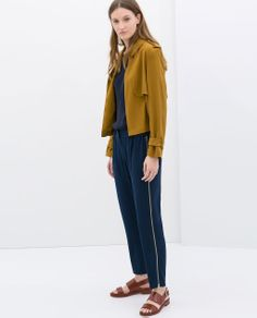 ZARA - WOMAN - SHORT JACKET WITH BUTTON TAB