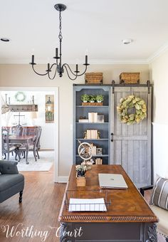 The Evolution of a Farmhouse Style Office In A Suburban Home || Worthing Court