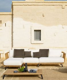 Backrest module structure in teak cm 78 Unopiù Sectional Sofa, Sofas, Armchairs, Outdoor Sofa, Outdoor Furniture, Outdoor Decor, Contemporary Furniture, Cushions, Benches