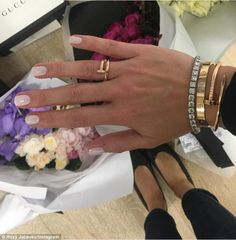 Bling ring: Roxy Jacenko showed off a new $5,600 Cartier ring on Instagram as she celebrated turning 36 on Wednesday